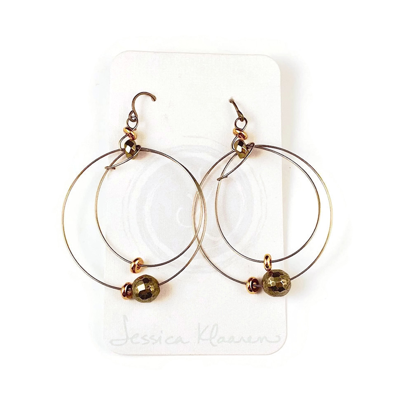 orbit double hoop earrings
