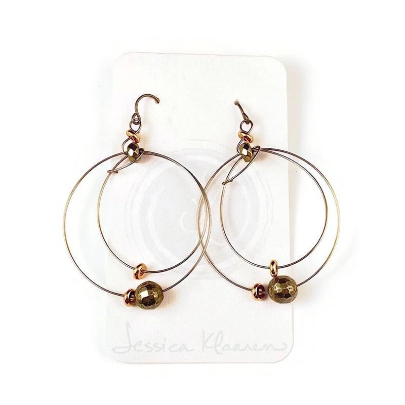 orbit double hoop earrings