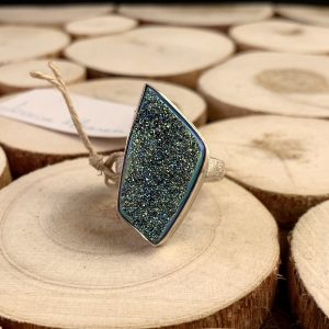 sterling silver druzy ring main view