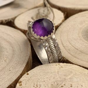 amethyst ring view two