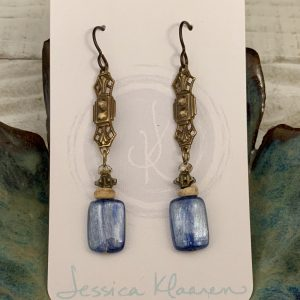 Blue Kyanite earrings