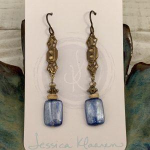 Blue Kyanite earrings