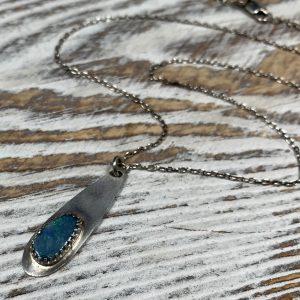 Opal Teardrop Necklace