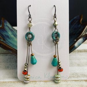 colorful sprigs earrings