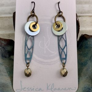multi-metal dangle earrings