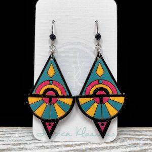 neon queen earrings